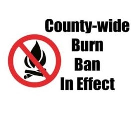 Burn Ban Sign for Polk