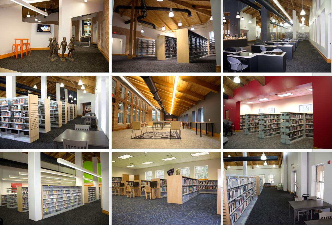 Interior Collage_Tower Road Branch Library